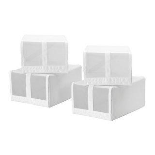 IKEA イケア SKUBB スクッブ シューズボックス ホワイト 80186396 幅22×奥行き34×高さ16 cm