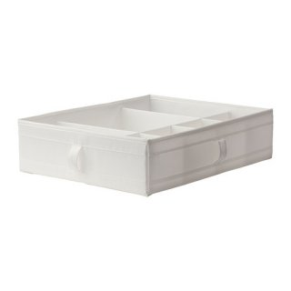 IKEA イケア SKUBB スクッブ ボックス 仕切り付き ホワイト 90185594 幅44×奥行き34×高さ11 cm