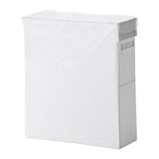 IKEA イケア SKUBB スクッブ ランドリーバッグ スタンド付き ホワイト 10224047 幅22×奥行き55×高さ65 cm