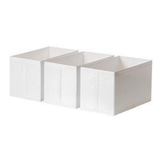 IKEA イケア SKUBB スクッブ ボックス / 3 ピース ホワイト d40290371 幅31×奥行き55×高さ33 cm