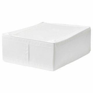 IKEA イケア SKUBB スクッブ 収納ケース ホワイト 50290361 幅44×奥行き55×高さ19 cm ベッド下収納