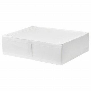 IKEA イケア SKUBB スクッブ 収納ケース ホワイト d70294990 幅69×奥行き55×高さ19 cm ベッド下収納