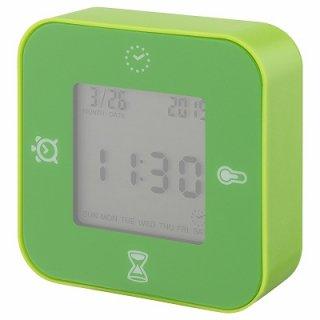 IKEA イケア 時計 温度計 アラーム タイマー グリーン n10469959 KLOCKIS