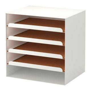 IKEA イケア レタートレイ ホワイト 80203956 KVISSLE