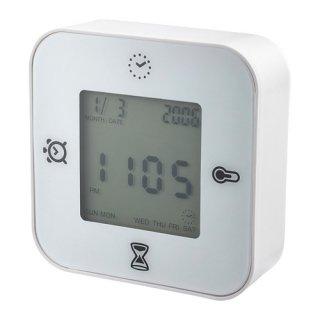 IKEA イケア KLOCKIS 時計/温度計/アラーム/タイマー ホワイト d50277005