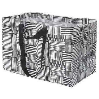 IKEA イケア FISSLA キャリーバッグ L ホワイト ブラック n70429282