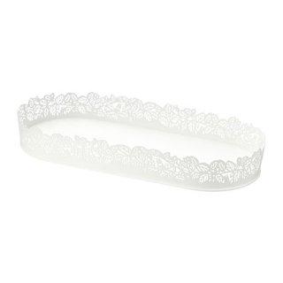 IKEA イケア キャンドル皿 楕円形 ホワイト SAMVERKA z10388722