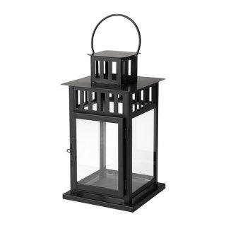IKEA イケア BORRBY ブロックキャンドル用ランタン 室内/屋外用 ブラック d50156112