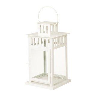 IKEA イケア BORRBY ブロックキャンドル用ランタン 室内/屋外用 ホワイト d10270143