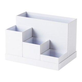 IKEA イケア デスクオーガナイザー 小物入れ ホワイト 18x17cm z20395454 TJENA