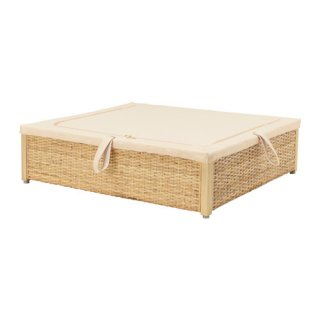 IKEA イケア ベッド下収納ボックス 籐 ROMSKOG b20329893