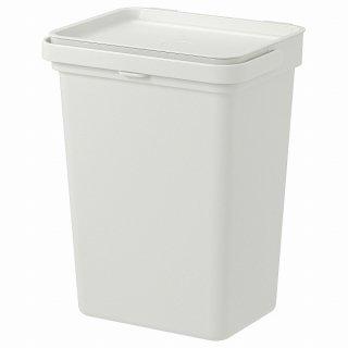 IKEA イケア ゴミ箱 ライトグレー 10 l n80417523 HALLBAR