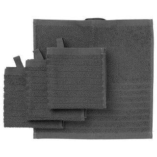 IKEA イケア タオルハンカチ ダークグレー 30x30cm 4ピース n20353623 VAGSJON