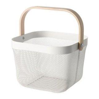 IKEA イケア バスケット ホワイト n60480544 RISATORP
