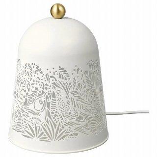 IKEA イケア LEDテーブルランプ ホワイト 黄銅色 n10440838 SOLSKUR