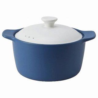 IKEA イケア 鍋 ふた付き セラミック ブルー ホワイト 3.6 L n60475613 STORKOK