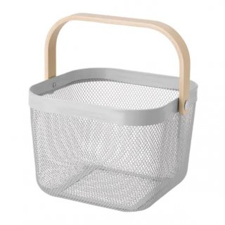 IKEA イケア バスケット グレー n80487752 RISATORP