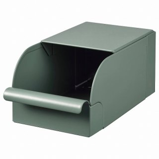 IKEA イケア ボックス グレーグリーン メタル 9x17x7.5cm n10457800 REJSA