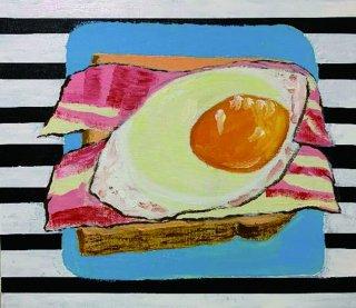 私の朝食 ストライプ1