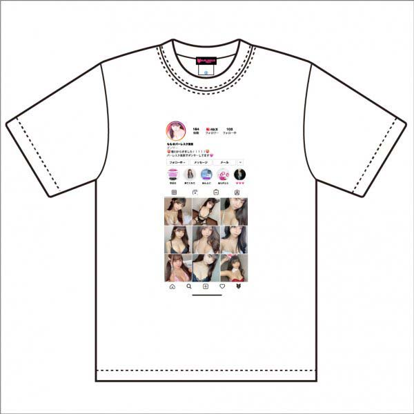 【Momo】Original_Design_Tシャツ(WHITE)