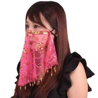 【女性におすすめ】 ナイトマスクフェイスベール  ピンク
