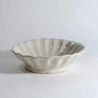 白釉輪花鉢 6寸