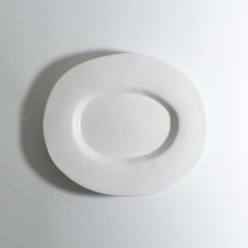 ラウンドオーバル皿(小) 白釉
