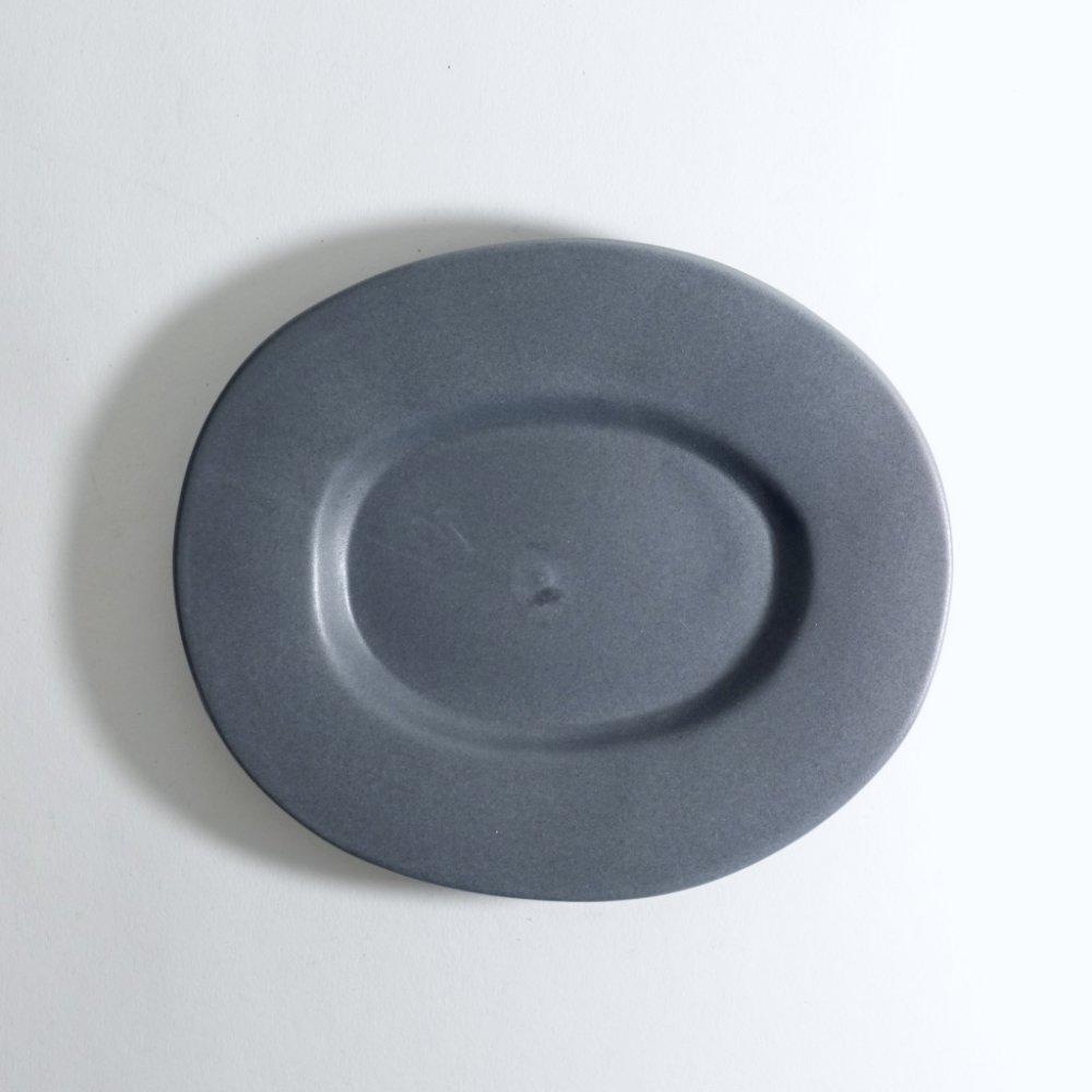 ラウンドオーバル皿(小) ネイビーグレー