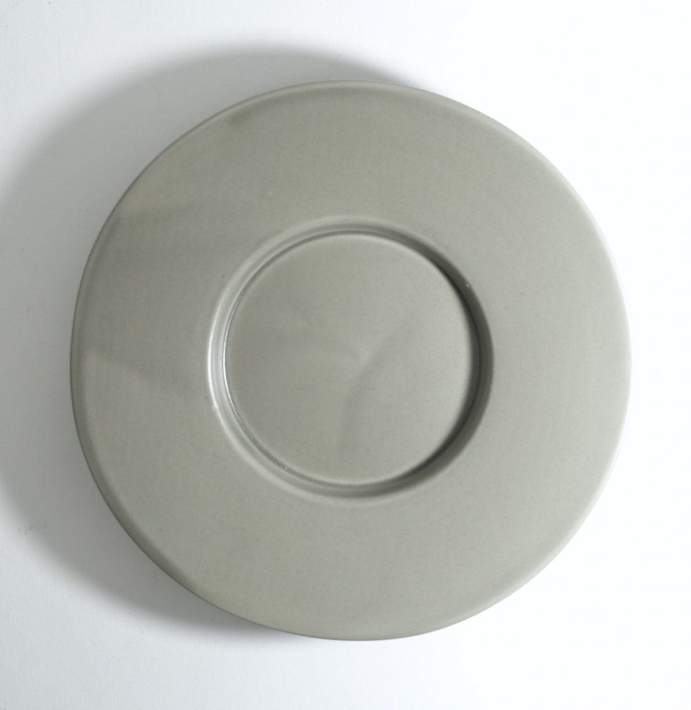 6寸ワイドリム皿 ススグレー