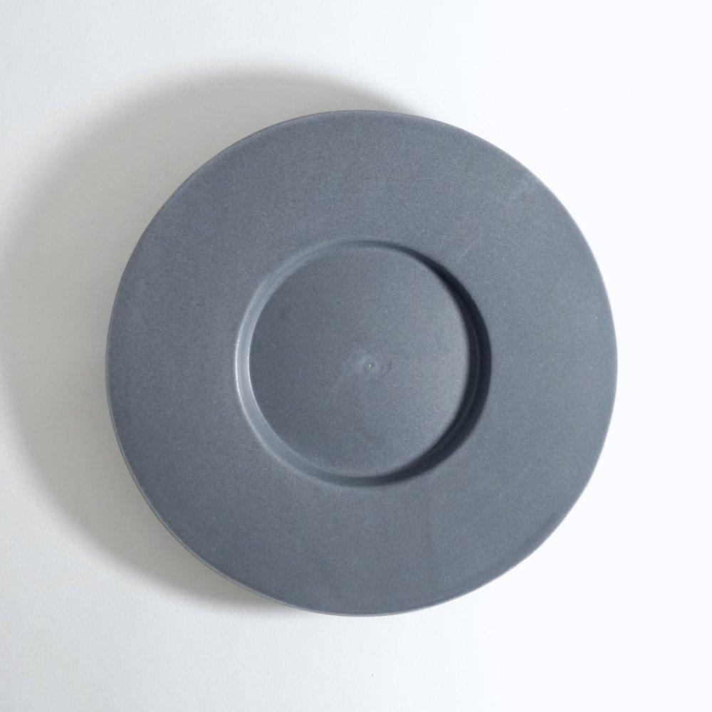 6寸ワイドリム皿 ネイビーグレー