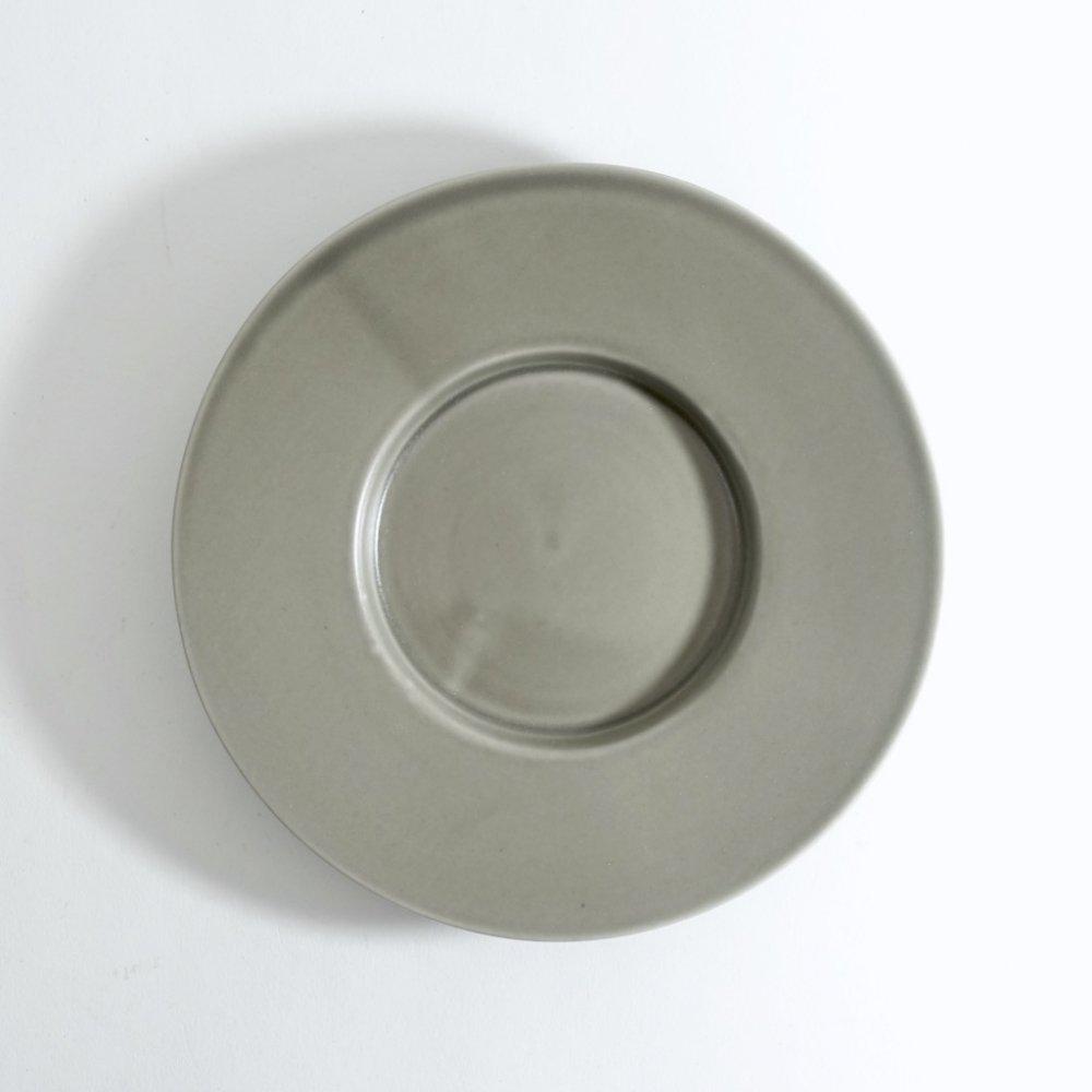 5寸ワイドリム皿 ススグレー