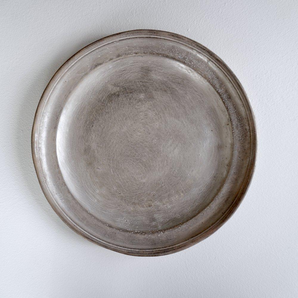 銀磁7.5寸リム皿