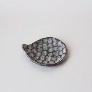 小鯖美保子 豆皿 / 黒