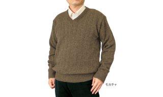 カシミヤ入りVセーター