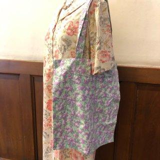 トートバッグ ペパーミントに紫小花