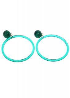 Emerald Green クリアリングイヤリング