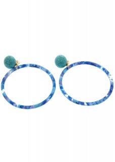 Blue カモフラージュリングイヤリング