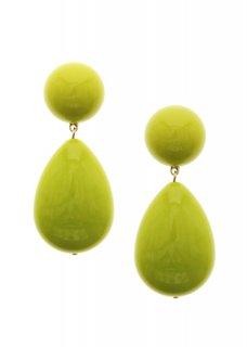 Yellow / Green ドロップイヤリング