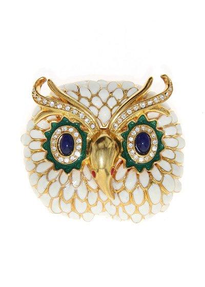 Owl ブローチ