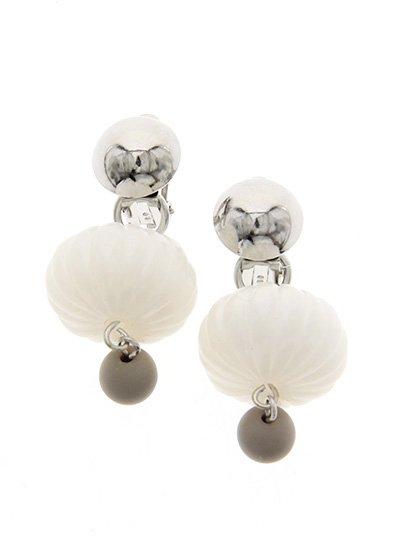 Silverr & White lantern ランタンイヤリング