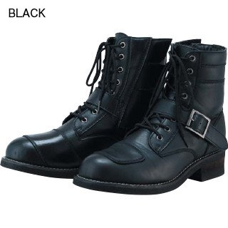 PU LACEUP BOOTS