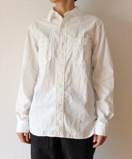 ユニセックスワークシャツホワイト