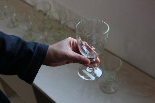 くるみ 玉足ワイングラス / ダイヤ