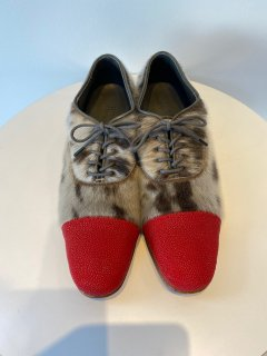 PERMANENT MODERN  stingray  x seal  shoes    red  size 37  -�