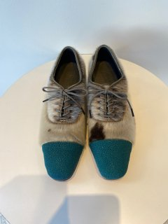 PERMANENT MODERN  stingray  x seal  shoes    turquoise  size 36  -�
