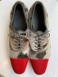 PERMANENT MODERN  stingray  x seal  shoes   red  size 36.5
