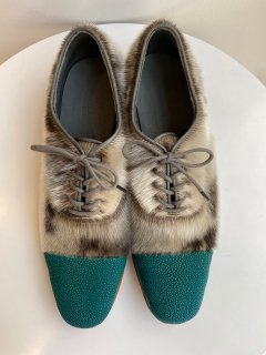 PERMANENT MODERN  stingray  x seal  shoes   turquoise  size 37