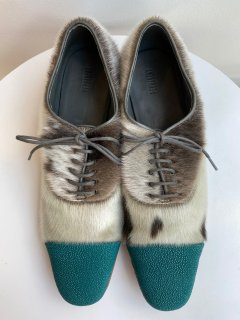 PERMANENT MODERN  stingray  x seal  shoes   MENS  turquoise  size 8