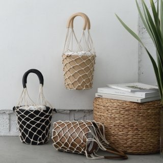 Mesh Leather Basket