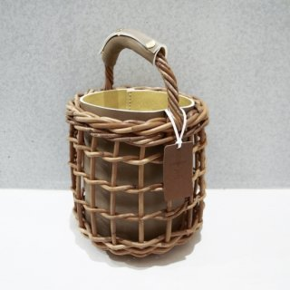 Reversible mode Basket  #Greige×Yellow